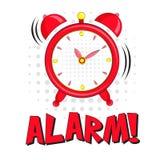 Alarm! literowanie z budzikiem Zdjęcia Royalty Free
