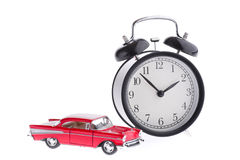 Alarm and model of car Royalty Free Stock Photography