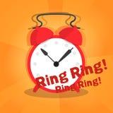 Alarm on orange radial background Stock Images