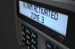 Alarm Panel Activated Stock Images