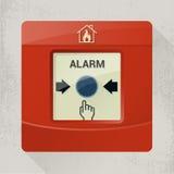 alarm rök för banan för clippingavkännarebrand bilden isolerad Arkivfoto