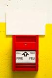 alarm rök för banan för clippingavkännarebrand bilden isolerad arkivbilder