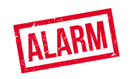Alarm rubber stamp Stock Photography