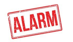 Alarm rubber stamp Royalty Free Stock Photos