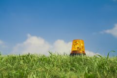 Alarm signal in grass Stock Image