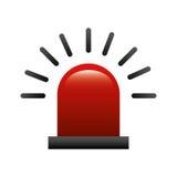 Alarm siren isolated icon Stock Image