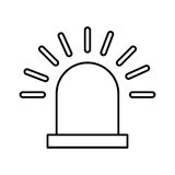 Alarm siren isolated icon. Illustration design Royalty Free Stock Images