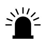 Alarm siren isolated icon. Illustration design Royalty Free Stock Image