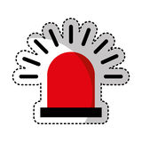 Alarm siren isolated icon. Illustration design Stock Images