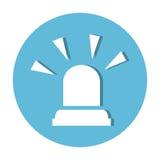 Alarm siren isolated icon. Illustration design Royalty Free Stock Photo