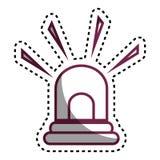 Alarm siren isolated icon. Illustration design Royalty Free Stock Photos
