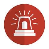 Alarm siren isolated icon. Illustration design Stock Photography