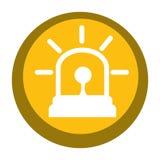 Alarm siren isolated icon. Illustration design Stock Photo