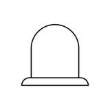 Alarm siren light. Icon  illustration graphic design Royalty Free Stock Photos