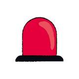 Alarm siren light. Icon  illustration graphic design Royalty Free Stock Photo