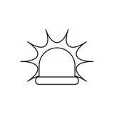 Alarm siren light. Icon  illustration graphic design Stock Images