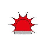 Alarm siren light. Icon  illustration graphic design Royalty Free Stock Photography