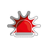 Alarm siren light. Icon  illustration graphic design Stock Photography
