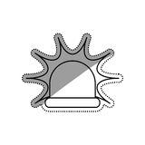 Alarm siren light. Icon  illustration graphic design Royalty Free Stock Images