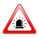 Alarm siren warning sign. Alarm siren warning vector sign Stock Image