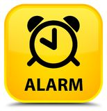 Alarm speciale gele vierkante knoop Stock Afbeeldingen