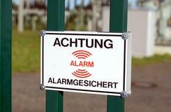 Alarm System Stock Image