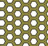 Alarm tape, abstract geometric  seamless pattern. Stock Images