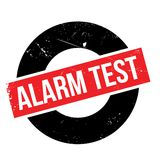 Alarm Test rubber stamp Stock Image