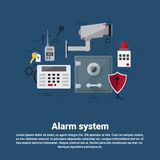 Alarm Thief Security Protection Insurance Web Banner Royalty Free Stock Photos