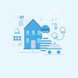 Alarm Thief Security Protection Insurance Web Banner Stock Photography