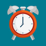 Alarm time clock isolated icon Royalty Free Stock Image