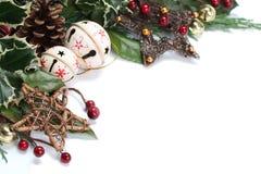 Alarma de cascabeleo y frontera de la Navidad de la estrella Foto de archivo libre de regalías
