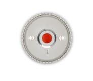 Alarma de humo en fondo rojo Imagenes de archivo