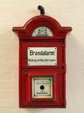 Alarma de incendio Fotografía de archivo libre de regalías