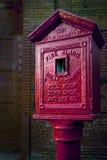 Alarma de incendio 1931 de la vendimia Foto de archivo libre de regalías