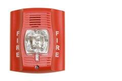 Alarma de incendio aislada imágenes de archivo libres de regalías