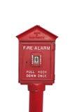 Alarma de incendio, aislada. Fotos de archivo