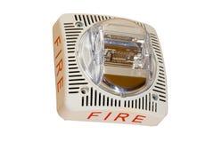 Alarma de incendio en el fondo blanco Imagen de archivo libre de regalías