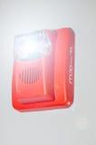 Alarma de incendio que destella Fotos de archivo libres de regalías