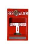 Alarma de incendio roja Fotografía de archivo