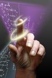 Alarma de la mano de la seguridad Imagen de archivo
