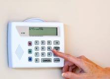 Alarma de la seguridad casera Foto de archivo libre de regalías