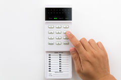 Alarma de la seguridad en el hogar Fotos de archivo