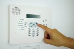 Alarma de la seguridad en el hogar fotografía de archivo libre de regalías