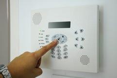 Alarma de la seguridad en el hogar Foto de archivo libre de regalías