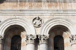 Alarma de la torre de la catedral de Ferrara imagen de archivo libre de regalías