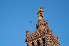 Alarma de la torre del la Garde de Notre Dame de Fotos de archivo libres de regalías