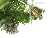 Alarma de plata como decoración del árbol de navidad Imagenes de archivo