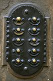 Alarma de puerta vieja Fotos de archivo