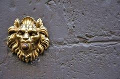 Alarma de puerta vieja en Florencia, Italia fotos de archivo libres de regalías